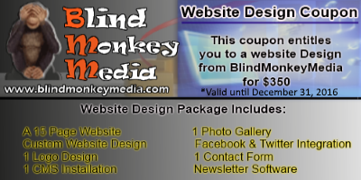 50% Off Website Design Package from BlindMonkeyMedia