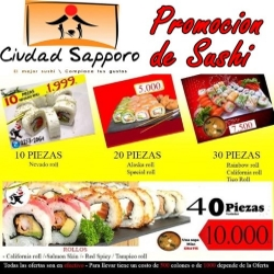 Sushi Promotion from Ciudad Sapporo