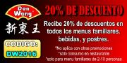 20% Discount from Don Wang Restaurant