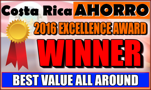 Best Value All Around Business Award in Costa Rica